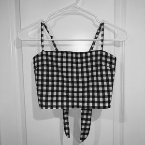 🌟 PLAID / CHECKERED TIE BACK CROP TOP CAMI 🌟